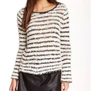 Free People striped fringe sweater Small